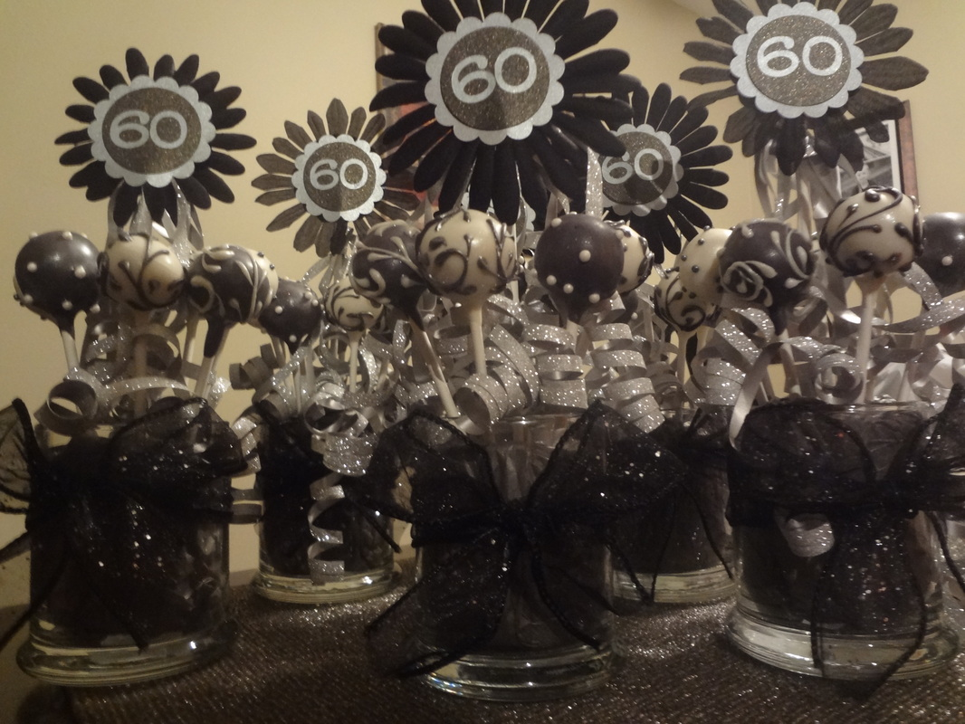 Amie 39 s blog cards crafts and cake pops by amie for 60th party decoration ideas