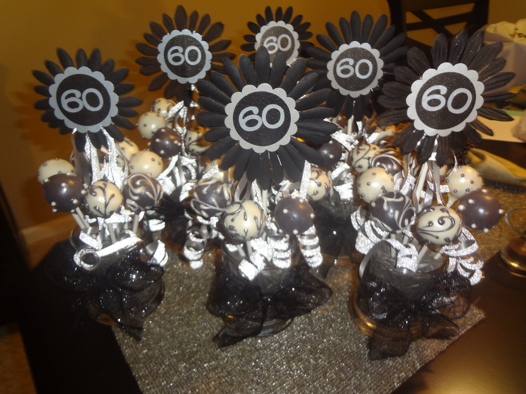 Amie 39 s blog cards crafts and cake pops by amie for 60th birthday party decoration